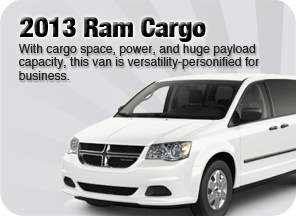 New 2013 Ram Cargo for sale Surrey Jim Pattison Chrysler Jeep Dodge